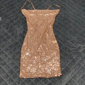 Rose gold sequence dress